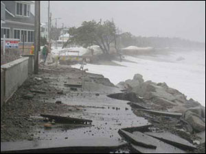 Saco road erosion